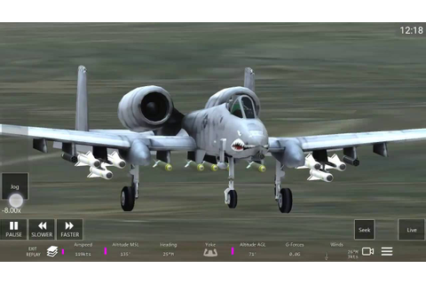 Infinite Flight A-10 Thunderbolt flight simulator game ...