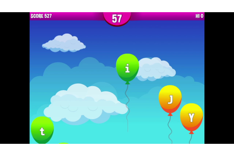 Typing Balloon Popper - HTML5 Typing Game - YouTube