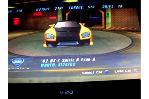 the fast and the furious tokyo drift game cars - YouTube