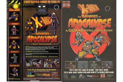1998 X-Men-The Ravages of Apocalypse PC Game by trivto on ...
