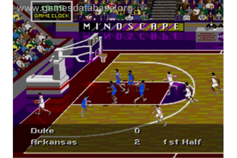 NCAA Final Four Basketball - Sega Genesis - Games Database