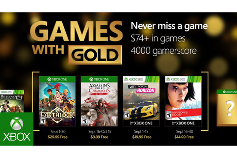 Xbox - September Games with Gold - YouTube