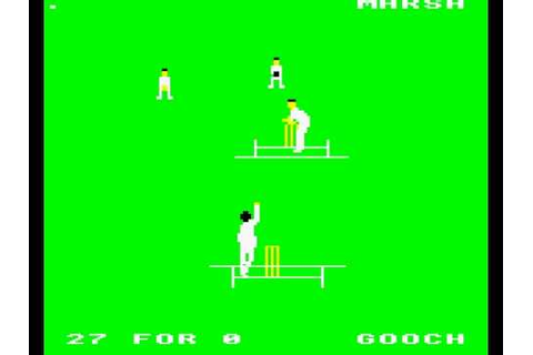 BBC MICRO Graham Gooch Test Cricket - YouTube