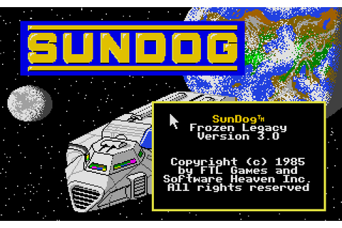 SunDog: Frozen Legacy (1985) by FTL Games Atari ST game