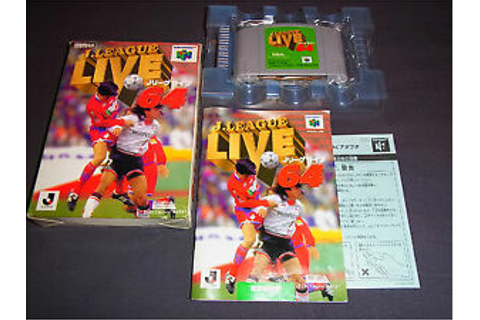 Nintendo 64 JAPAN Import N64 JP Boxed : J.LEAGUE LIVE 64 ...