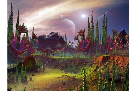 Strange Plant Formations in an Alien Garden — Stock Photo ...