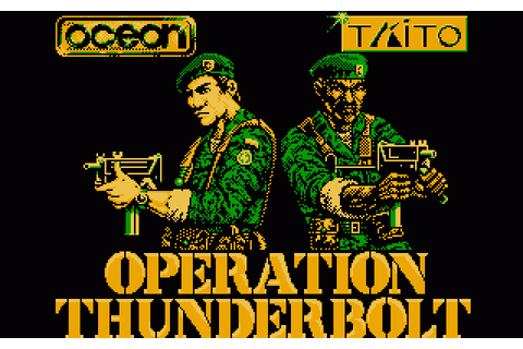 Operation Thunderbolt (1989) by Ocean Amstrad CPC game