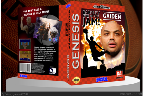 Barkley Shut Up and Jam! Gaiden Genesis Box Art Cover by ...