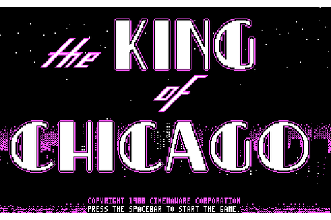 The King of Chicago (1988) by Cinemaware MS-DOS game