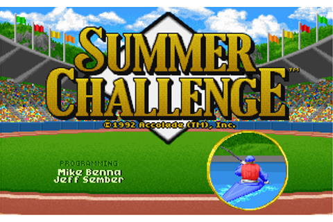 Summer Games | Old DOS Games | Download for Free or play ...