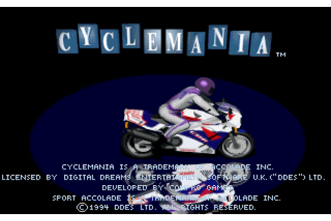 Cyclemania (1994) by Compro Games MS-DOS game
