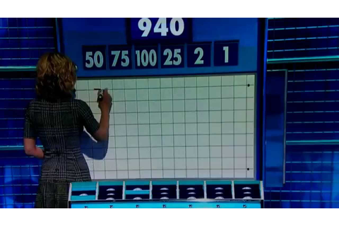 The best numbers game on Countdown 27.10.14 - YouTube