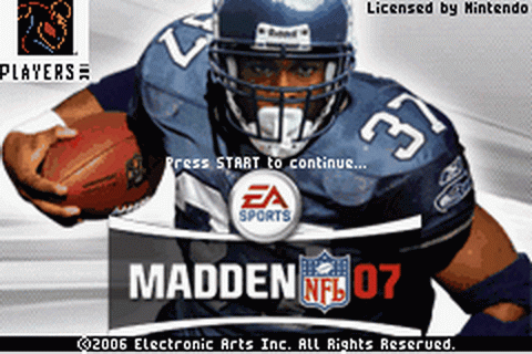 Play Madden NFL 07 Nintendo Game Boy Advance online | Play ...