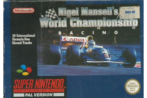Nigel Mansell's World Championship Racing PAL Super ...
