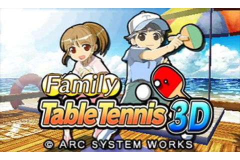 Family Table Tennis 3D (3DS eShop) News, Reviews, Trailer ...