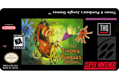 Super Nintendo Labels: Timon & Pumbaa's Jungle Games
