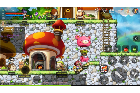 The MMORPG Maplestory has arrived on Android