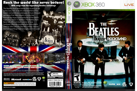 The Beatles: Rock Band Xbox 360 Box Art Cover by firebert626