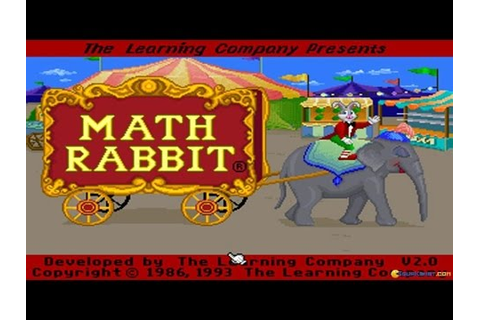 Math Rabbit gameplay (PC Game, 1986) - YouTube