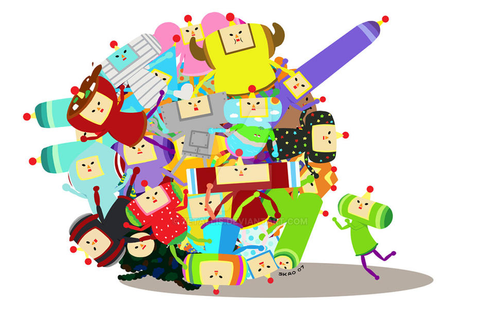 Cousin Katamari by zetallis on DeviantArt