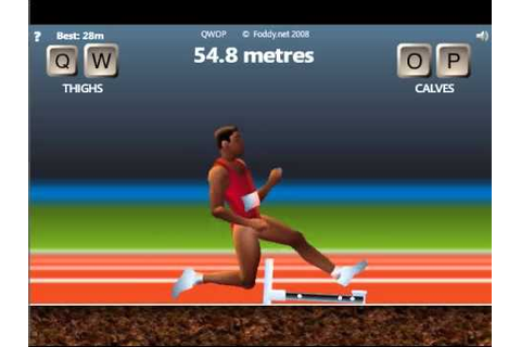 QWOP - reaching the end - YouTube