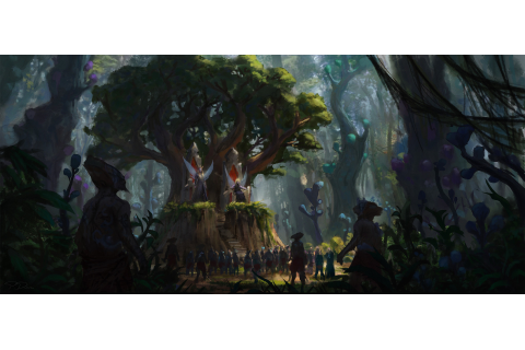 ArtStation - Forest throne, Piotr Dura