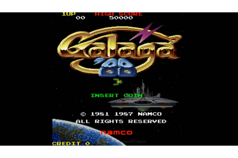 Galaga '88 1987 Namco Mame Retro Arcade Games - YouTube