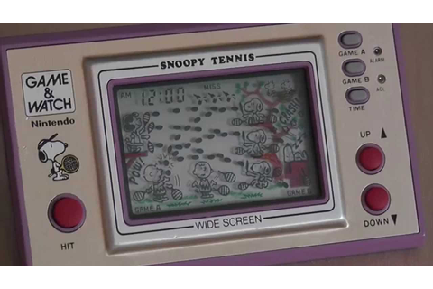 Nintendo Game & Watch Wide Screen Serie Snoopy Tennis ...