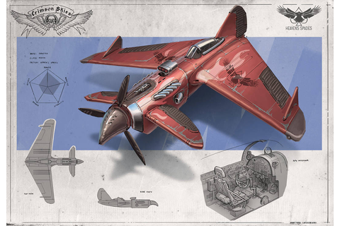 Redesign: Crimson Skies (Dragster medium fighter) by ...