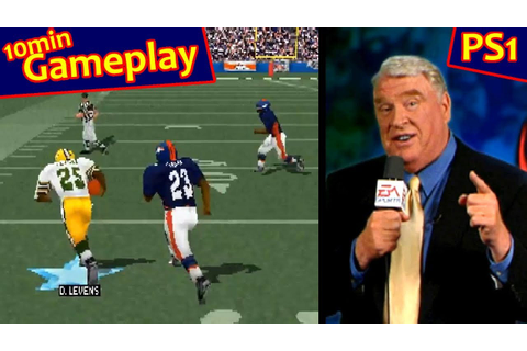 Madden NFL 99 ... (PS1) 60fps - YouTube