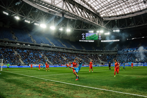 First match held at 2018 FIFA World Cup stadium in St ...