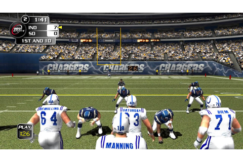 NFL Gameday 2004 PS2 PCSX2 gameplay Colts vs Chargers ...