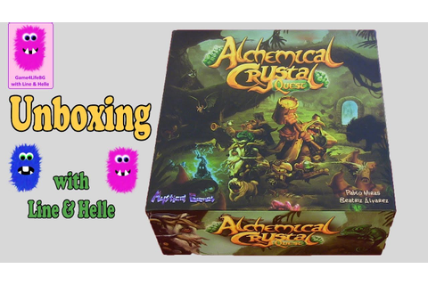Alchemical Crystal Quest, Unboxing (In English, board game ...