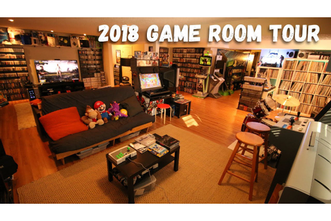 2018 Game Room Tour - 5500 Games & 80+ Systems (All Free ...