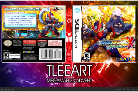 Megaman ZX Advent Nintendo DS Box Art Cover by tleeart