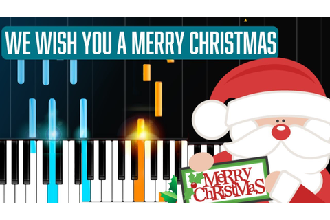 """We Wish You A Merry Christmas"" Piano Tutorial - Chords ..."