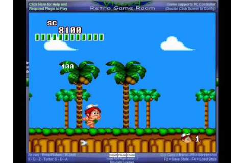 TurboGrafx-16/PC Engine gameplay - New Adventure Island ...