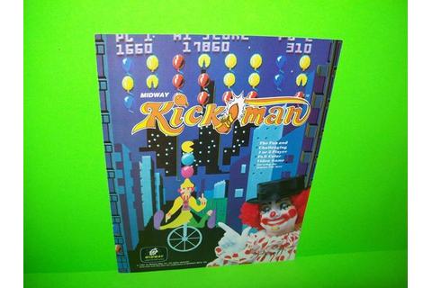 KICK MAN By MIDWAY 1981 ORIGINAL VIDEO ARCADE GAME SALES ...
