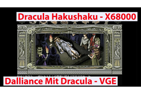 Dracula Hakushaku - Dalliance with Dracula - Sharp X68000 ...
