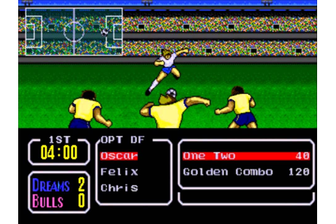 Playing Tecmo Cup Football Game Stage 1 - YouTube