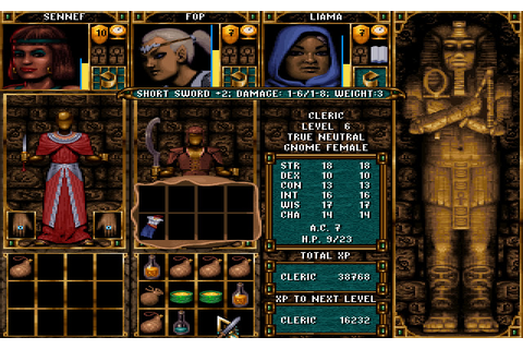 Ravenloft: Stone Prophet rpg for DOS (1995) - Abandonware DOS