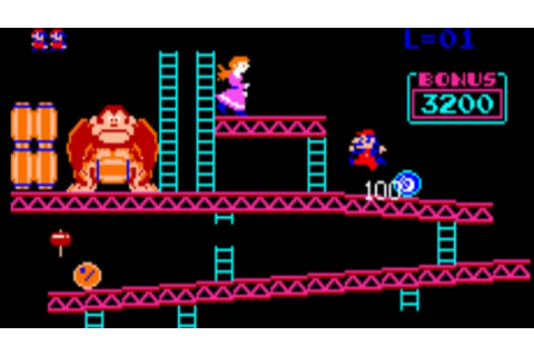 Donkey Kong 1981 - Arcade Gameplay - YouTube