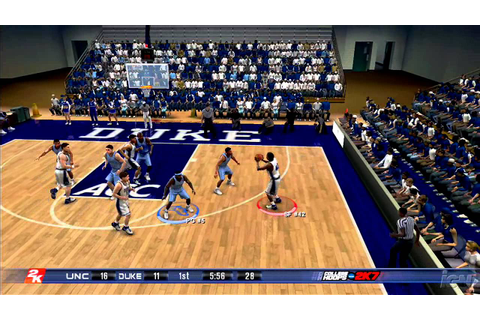 College Hoops 2K7 Xbox 360 Gameplay - Blue Devils - YouTube