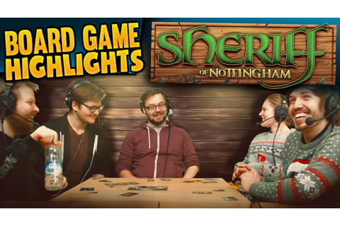 Board Game Highlights! #4 - Sheriff of Nottingham - YouTube