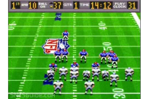 Madden NFL '94 - SNES Gameplay - YouTube
