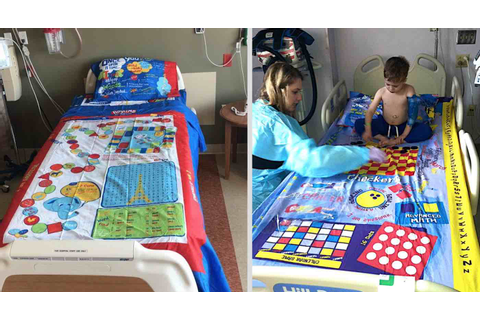Dad Turns Board Games into Bed Sheets So Sick Kids Lying ...