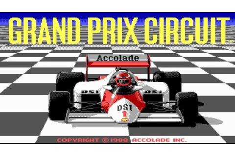 Grand Prix Circuit gameplay (PC Game, 1988) - YouTube