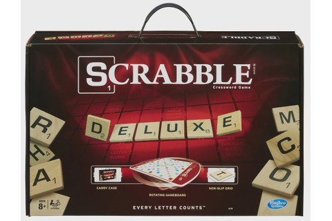 Scrabble Deluxe Edition Game, for Kids Ages 8 and Up ...
