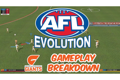 AFL Evolution Gameplay: GWS Giants Play the Game! - YouTube