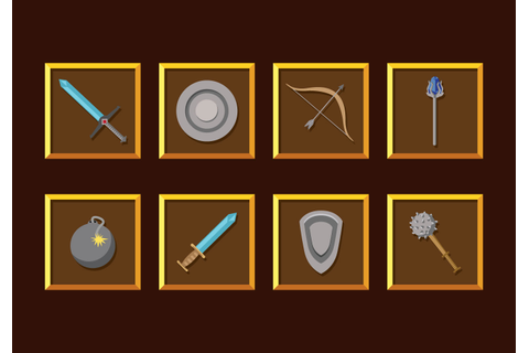 RPG Game Weapons Vector - Download Free Vector Art, Stock ...